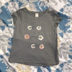 Abercrombie Kids Grey Flower Wheels Shirt
